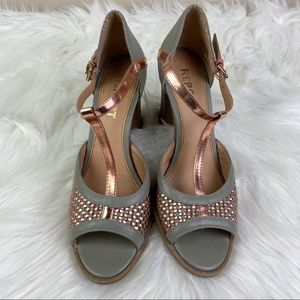 Report Sandals Sz 7.5 Copper and Gray
